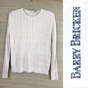 BARRY BRICKEN Cream 100% Silk, Knit Sweater